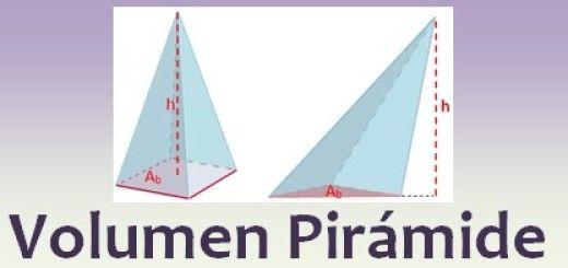 Volumen de la pirámide