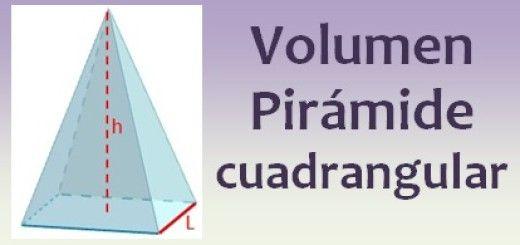 Volumen de la pirámide cuadrangular
