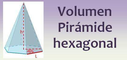 Volumen de la pirámide hexagonal