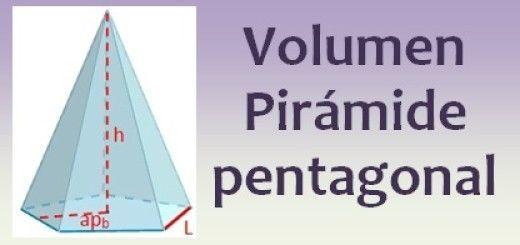 Volumen de la pirámide pentagonal