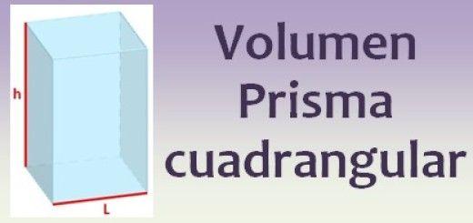 Volumen del prisma cuadrangular