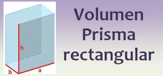 Volumen del prisma rectangular