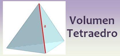 Volumen del tetraedro