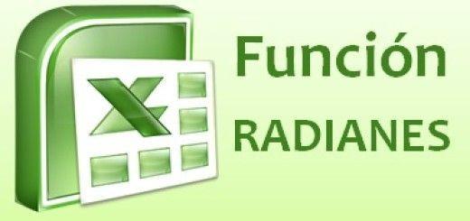 Función RADIANES de Excel