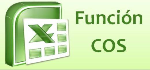 Función COS de Excel