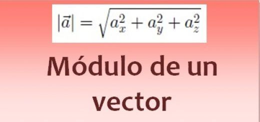 Módulo de un vector