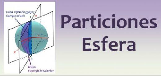 Particiones de la esfera