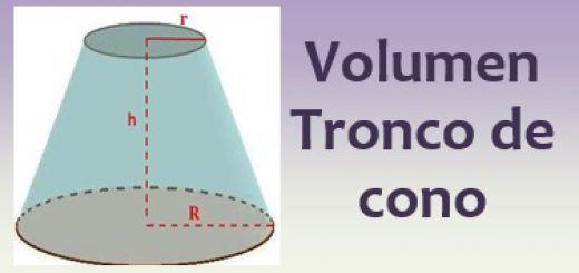 Volumen del tronco de cono