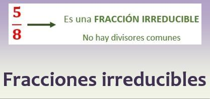 Fracciones irreducibles