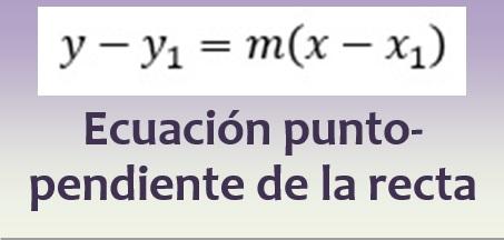 Ecuación punto-pendiente de la recta