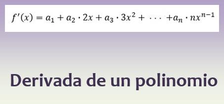 Derivada de un polinomio