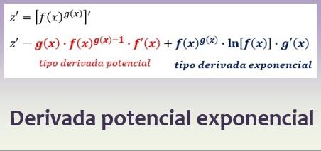 Derivada potencial exponencial