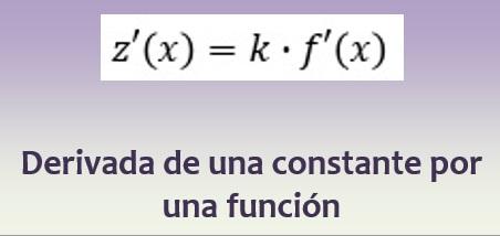 Derivada de una constante por una función